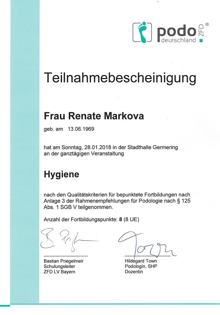 Hygiene Zertifikat